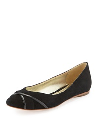 Elaine Turner Designs Kendall Suede Leather Ballet Flat Black