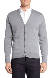 John Smedley Men's 'Bryn' Easy Fit Wool Button Cardigan Silver