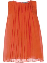 Etro Pleated Tank Top Yellow And Orange