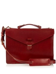 Tarnsjo Garveri Leather Briefcase Burgundy