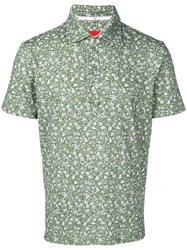 Isaia Floral Polo Shirt Green