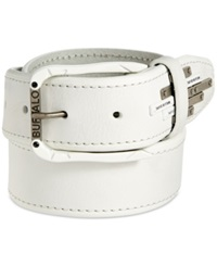 Buffalo David Bitton Logo Plate Belt White