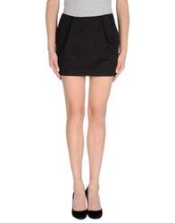 Gold Case Mini Skirts Black