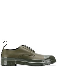 Dolce And Gabbana Shiny Toe Cap Derby Shoes Green