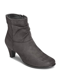 Aerosoles Red Light Slouchy Ankle Boots Grey