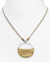 Robert Lee Morris Soho Wire Wrap Pendant Necklace 16 Gold Silver
