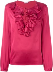 P.A.R.O.S.H. 'Piano' Blouse Pink And Purple
