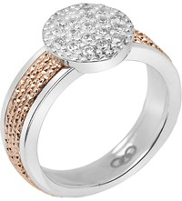 Links Of London Celeste 18Ct Rose Gold Vermeil And Sterling Silver Pave Ring Mixed Metal