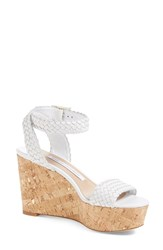 Women's Diane Von Furstenberg 'Monclair' Platform Wedge Sandal White Leather