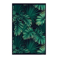 Hibernica Collection Jungle Vinyl Floor Mat Hib18279 Green