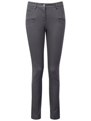 Pure Collection Manor Cotton Stretch Zip Pocket Trousers Slate Grey