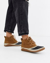 Sorel Out N About Plus Camel Waterproof Flat Ankle Boots Beige