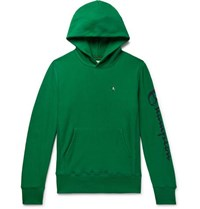Todd Snyder Champion Logo Print Loopback Cotton Jersey Hoodie Green