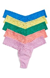 Petite Women's Hanky Panky Thong Yellow 5 Pack