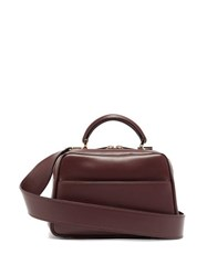 Valextra Serie S Small Smooth Leather Shoulder Bag Burgundy
