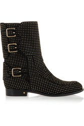 Laurence Dacade Rick Studded Suede Boots Black