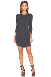 David Lerner Raglan Sweater Dress Charcoal