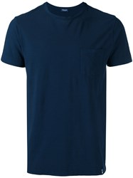 Drumohr Chest Pocket T Shirt Blue