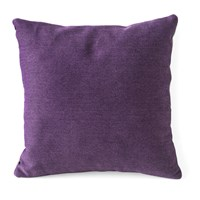 Calligaris Clips Square Front Back Throw Pillow Purple