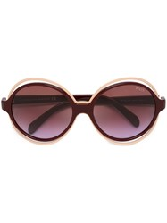 Emilio Pucci Round Shaped Sunglasses Pink Purple