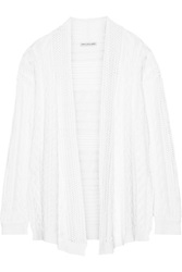 Autumn Cashmere Cable Knit Cotton Cardigan White