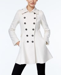 Via Spiga Double Breasted Flared Peacoat Winter White