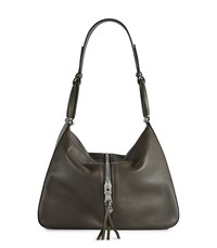 Reiss Broadwick Leather Shoulder Bag In Brown Womens