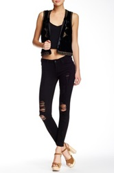 Just Usa Destroyed Skinny Jean Black