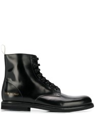 Common Projects Lace Up Ankle Boots Black