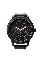Forever 21 Oversized Rubber Chronograph Watch Black