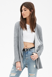 Forever 21 Heathered French Terry Cardigan