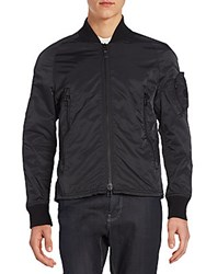 Spiewak Narifuri Cotton And Nylon Bomber Jacket Caviar