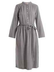 Ace And Jig Belted Cotton Dress Blue White