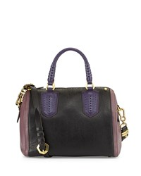 Reese Diamond Lthr Satchel Black Oryany