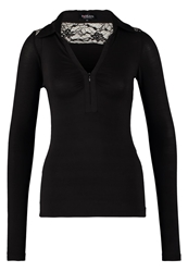 Morgan Tango Long Sleeved Top Noir Black