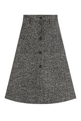 Philosophy Di Lorenzo Serafini Wool Herringbone A Line Skirt Grey