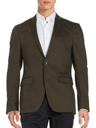 Laboratory Lt Man Textured Two Button Jacket Olive
