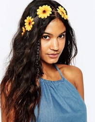Asos Sunflower Headband Yellow