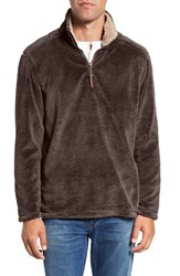 True Grit Men's Pebble Pile Quarter Zip Pullover Vintage Brown