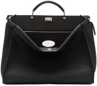 Fendi Black Medium Selleria Peekaboo Tote