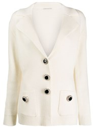 Alessandra Rich Single Breasted Cardigan White