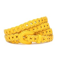 Jacquemus Woven Leather Belt Yellow