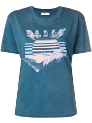 Bally Wing Print T Shirt Blue