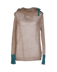 Chiara Bertani Turtlenecks Khaki