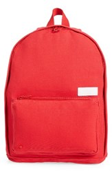 State Bags Slim Lorimer Water Resistant Canvas Backpack Red