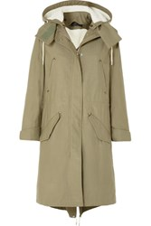 Rag And Bone Penelope Oversized Cotton Canvas Parka Green