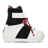 Moncler Grenoble Black And White Norah Boots