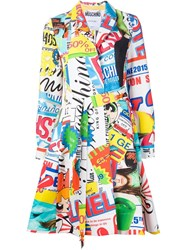 Moschino Printed Trench Coat Multicolour
