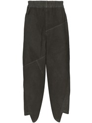 By Walid Artem Asymmetric Trousers Grey