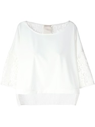 Luxury Fashion Lace Back And Sleeves Top